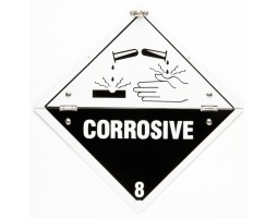 Folding Warning Diamond Panel Corrosive