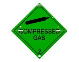 Folding Warning Diamond Panel Compressed Gas