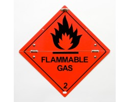 Folding Warning Diamond Panel Flammable Gas
