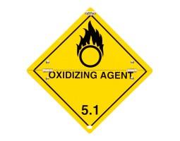 Folding Warning Diamond Panel Oxidising Agent