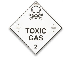 Folding Warning Diamond Panel Toxic gas