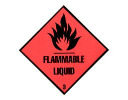 Triplex Warning Diamonds Double Sided Flammable Liquid 3