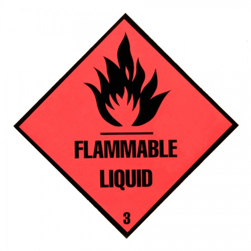 hazard diamond label two colour flammable liquid