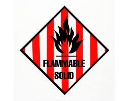 Hazard Diamond Label Two Colour - Flammable Solid