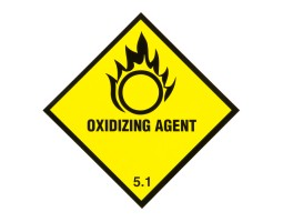 Triplex Warning Diamonds Double Sided Oxidising Agent 5.1