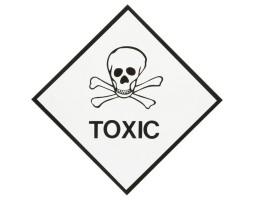 Hazard Diamond Label One Colour - Toxic