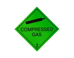 Hazard Diamond Label Two Colour - Compressed Gas