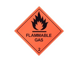 Hazard Diamond Label Two Colour - Flammable Gas