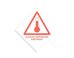 Hazard Diamond Label Two Colour - Elevated Temperature Substance