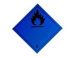 Hazard Diamond Label Two Colour - Dangerous When Wet