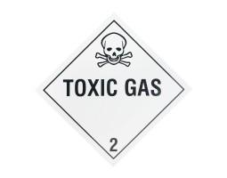 Hazard Diamond Label One Colour - Toxic Gas