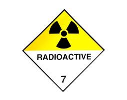 Hazard Diamond Label Two Colour - Radio Active