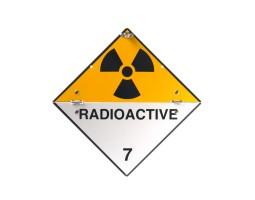 Folding Warning Diamond Panel Radio Active